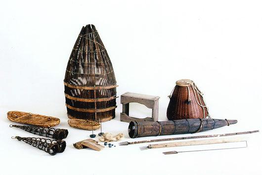 多摩川の漁具