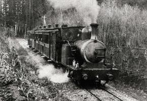 青梅鉄道の2号機関車(明治36年)